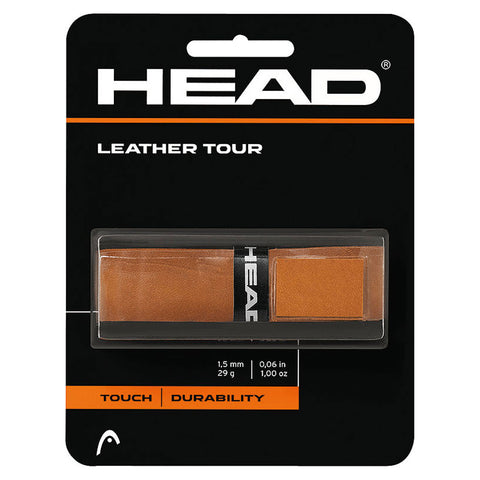 Head Tour Leather Replacement Grip (Natural) - RacquetGuys