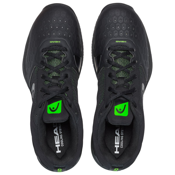 HEAD Revolt Team 3.0 Mens Tennis Shoe (Black/Green) - RacquetGuys