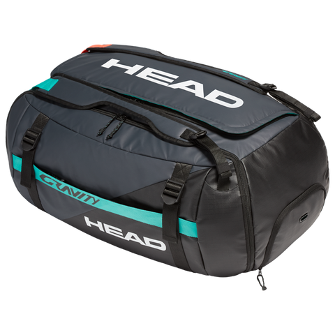 Head Gravity Duffle 12 Pack Racquet Bag (Grey/Teal) - RacquetGuys