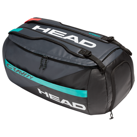Head Gravity Duffle 6 Pack Racquet Bag (Grey/Teal) - RacquetGuys.ca
