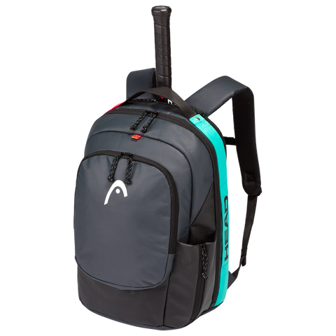 Head Gravity Backpack Racquet Bag (Black/Teal) - RacquetGuys
