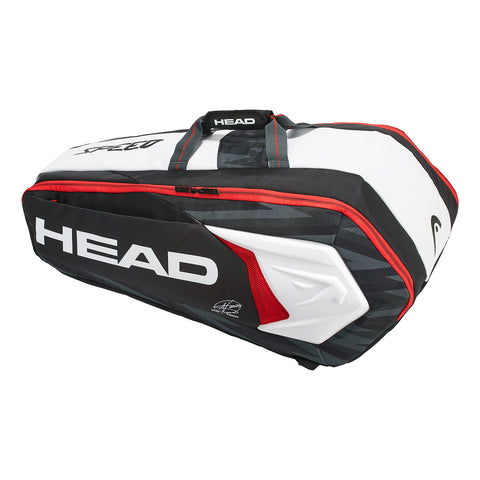 HEAD Djokovic Supercombi 9 Racquet Bag (Black/Red/White)