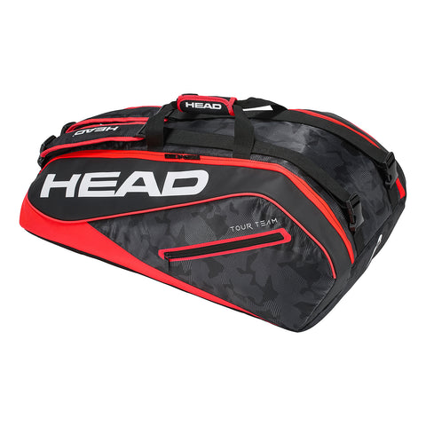 Head Tour Team Supercombi 9 Pack Racquet Bag (Black/Red) - RacquetGuys