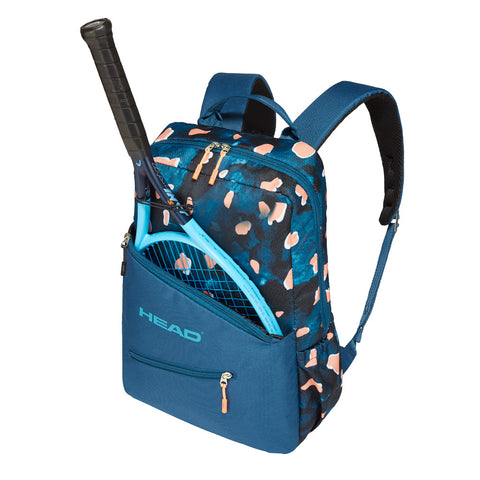 Head Core Backpack Racquet Bag (Blue/Coral) - RacquetGuys.ca