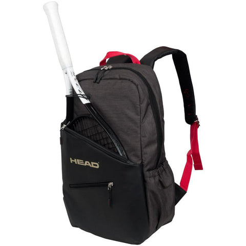 Head Core Backpack Racquet Bag (Grey/Red) - RacquetGuys