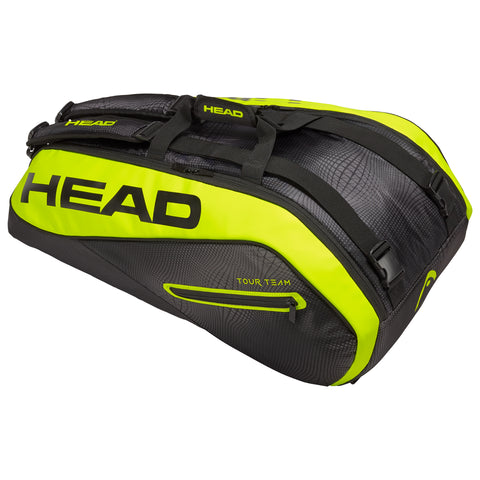 Head Tour Team Supercombi 9 Pack Racquet Bag (Black/Yellow) - RacquetGuys