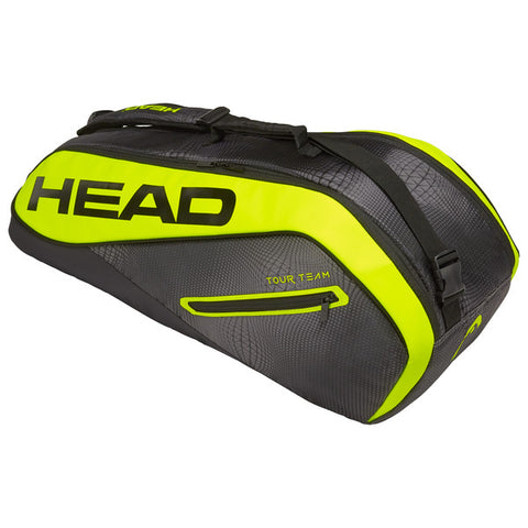HEAD Extreme Combi 6 Racquet Bag (Lime/White/Black) - RacquetGuys
