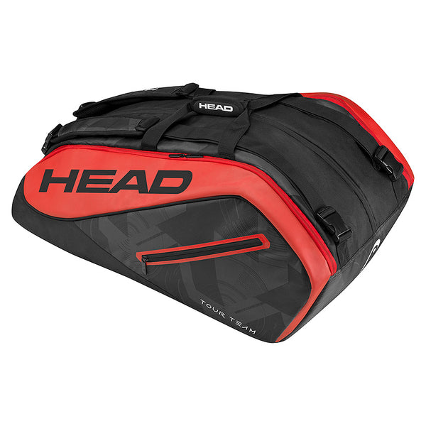 Head Tour Team Monstercombi 12 Racquet Bag (Black/Red) - RacquetGuys
