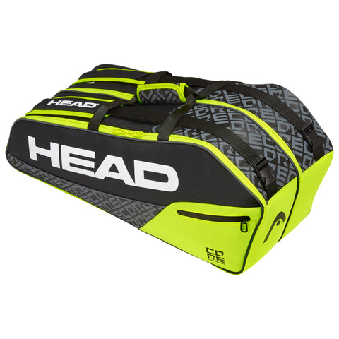 HEAD Core Combi 6 Racquet Bag (Black/Yellow)