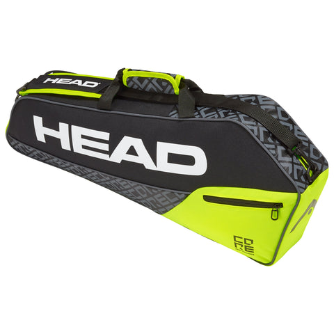 HEAD Core Pro 3 Racquet Bag (Black/Yellow)