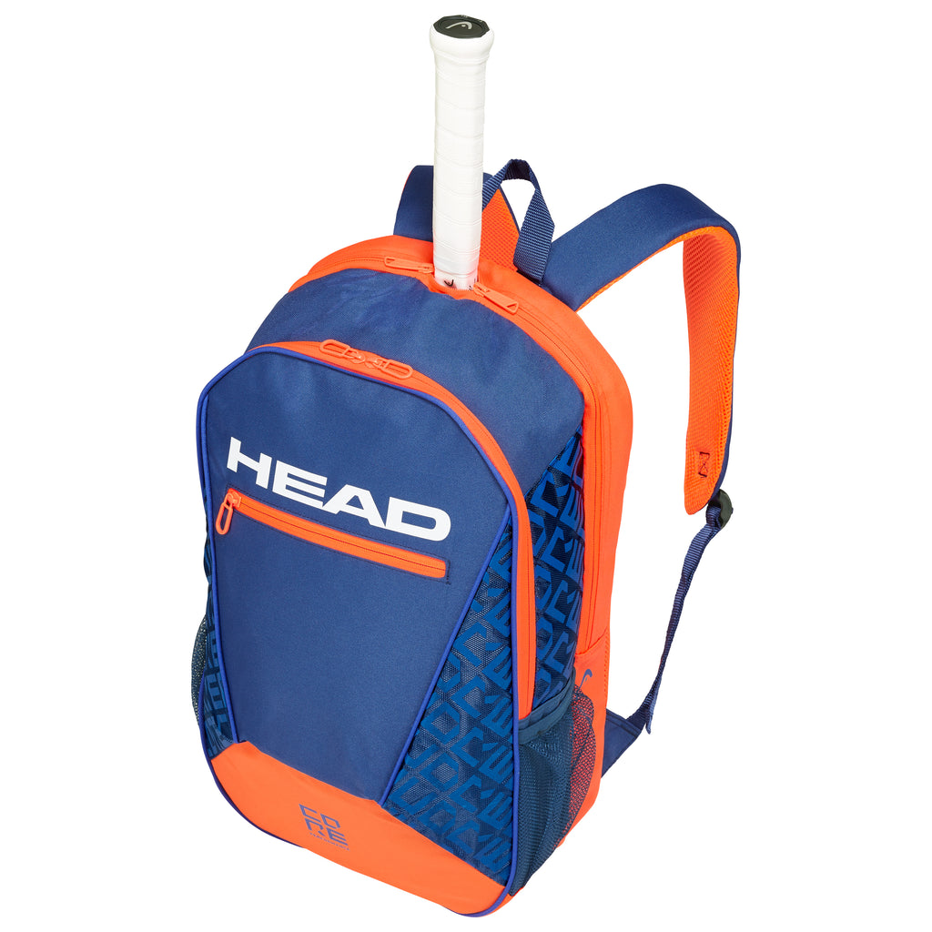 Head Core Backpack Racquet Bag (Blue/Orange) - RacquetGuys.ca