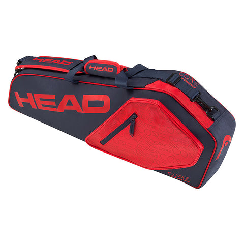 Head Core Pro 3 Pack Racquet Bag (Navy/Red) - RacquetGuys