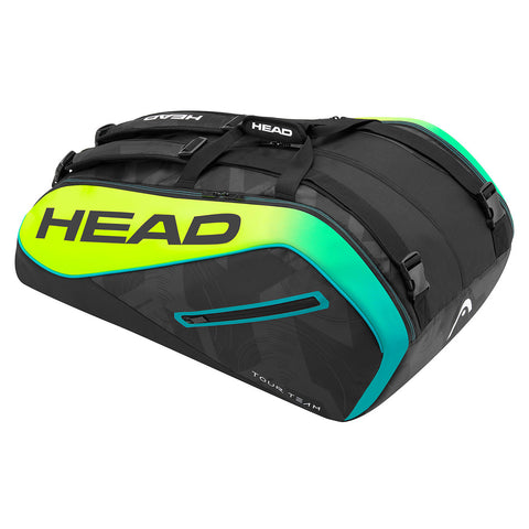 Head Extreme Supercombi 9 Pack Racquet Bag (Black/Yellow) - RacquetGuys