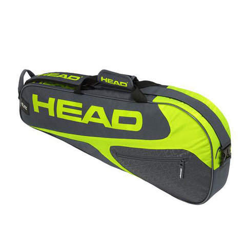 Head Elite Pro 3 Racquet Racquet Bag (Grey/Yellow) - RacquetGuys