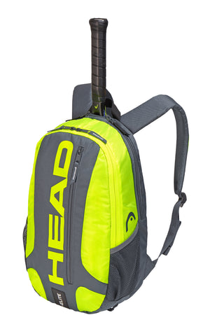 HEAD Elite Racquet Backpack (Grey/Yellow) - RacquetGuys