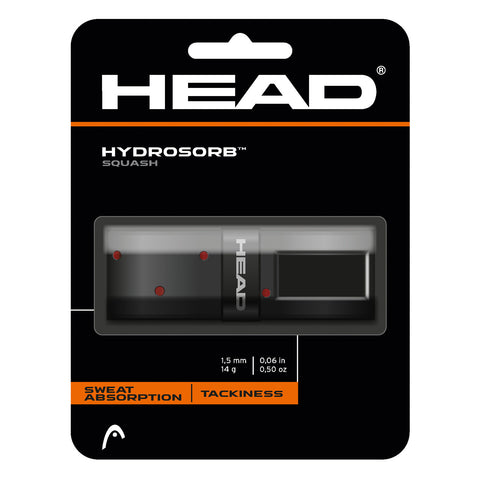 Head Hydrosorb Squash Replacement Grip (Black) - RacquetGuys.ca