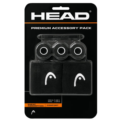 HEAD Premium Tennis Accessory Pack (Black) - RacquetGuys