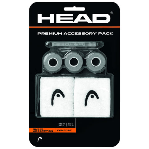 Head Premium Tennis Overgrip Accessory Pack (Grey) - RacquetGuys