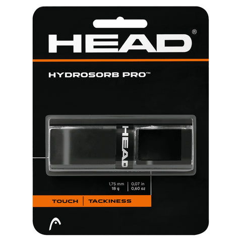 HEAD Hydrosorb Pro Replacement Grip (Black) - RacquetGuys