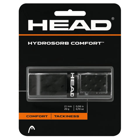 Head Hydrosorb Comfort Replacement Grip (Black) - RacquetGuys.ca
