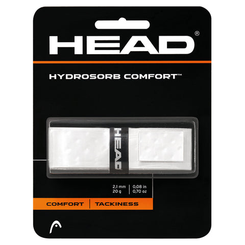 Head Hydrosorb Comfort Replacement Grip (White) - RacquetGuys.ca