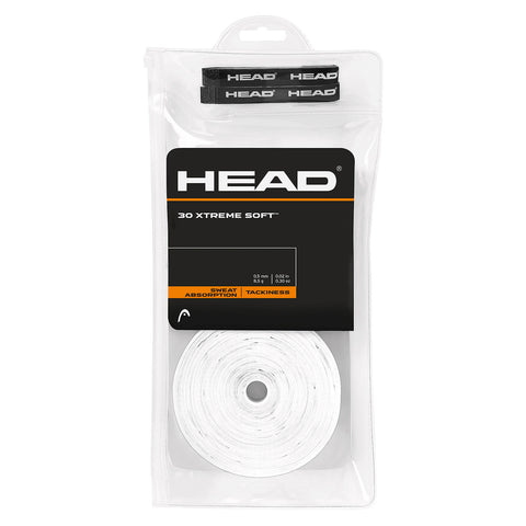 Head Xtreme Soft Overgrips 30 Pack (White)