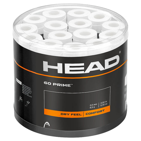 Head Prime Overgrips 60 Pack (White) - RacquetGuys