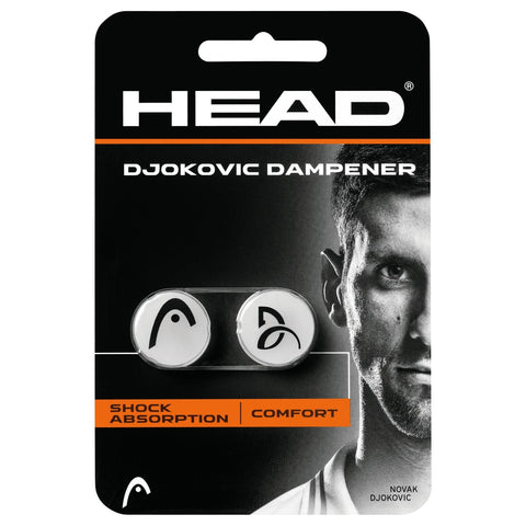 Head Djokovic Vibration Dampener (White) - RacquetGuys