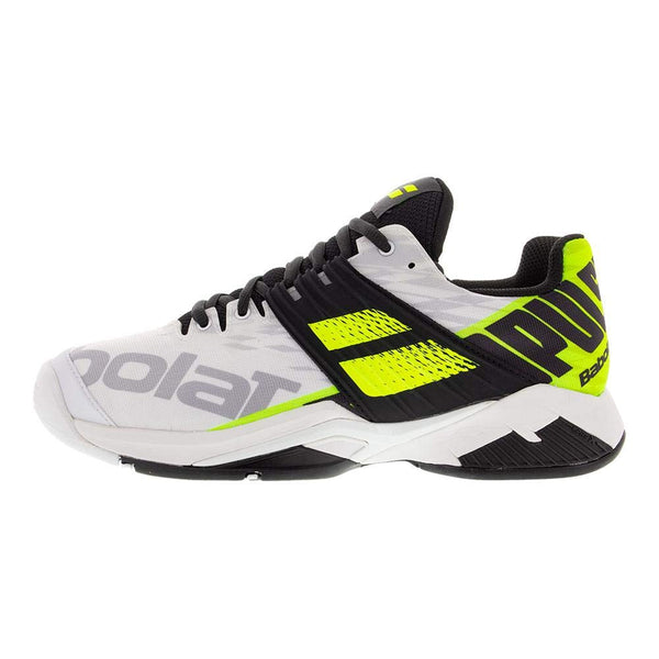 Babolat Propulse Fury AC Mens Tennis Shoe (White/Yellow) - RacquetGuys