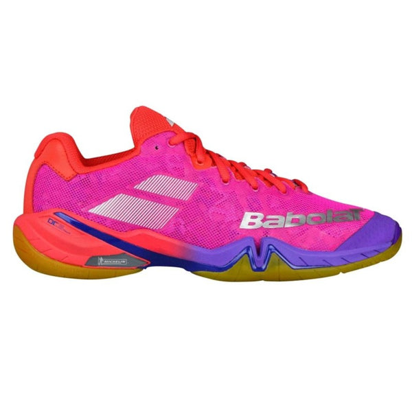 Babolat Shadow Tour Womens Indoor Court Shoe (Red/Pink/Violet) - RacquetGuys