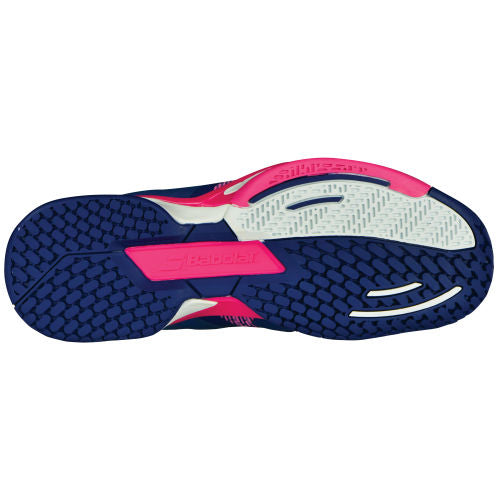 Babolat Propulse Blast AC Women's Tennis Shoe (Blue/Pink) - RacquetGuys