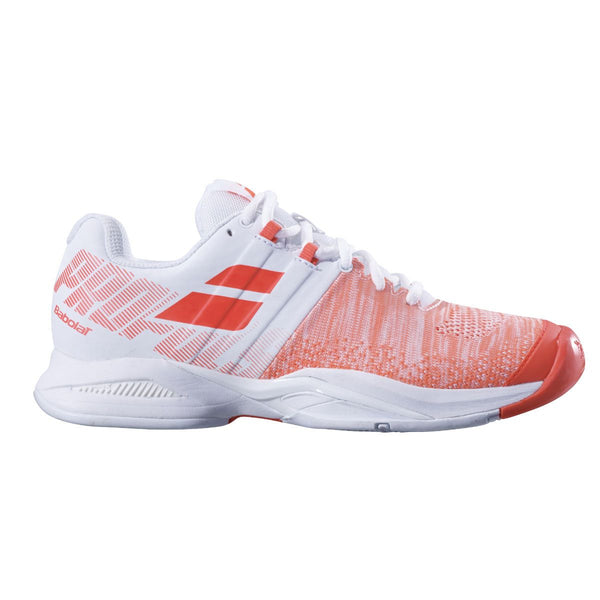 Babolat Propulse Blast AC Womens Tennis Shoe (White/Red) - RacquetGuys