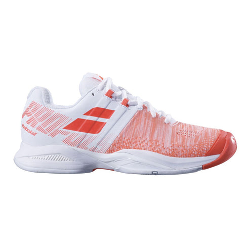 Babolat Propulse Blast AC Women's Tennis Shoe (White/Red) - RacquetGuys.ca