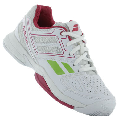 Babolat Pulsion Junior Tennis Shoe (White/Pink) - RacquetGuys.ca