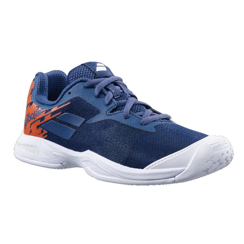 Babolat Jet AC Junior Tennis Shoe (Blue/Orange) - RacquetGuys.ca