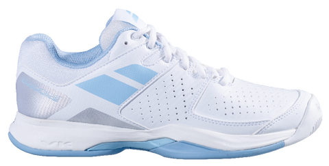 Babolat Pulsion Women's Tennis Shoes (White/Blue) - RacquetGuys
