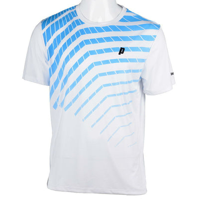 Prince Mens Graphic Top (White/Blue)