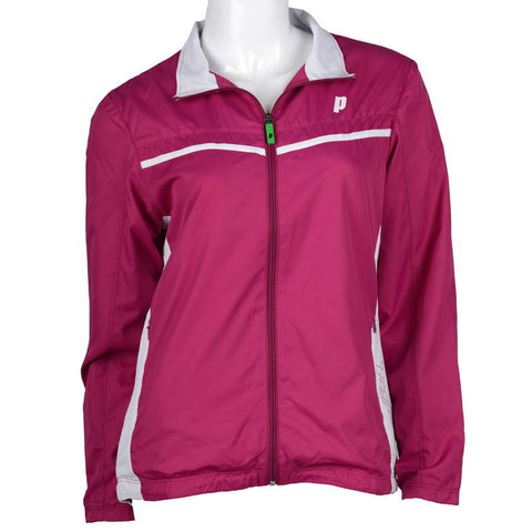 Prince Womens Warm Up Jacket (Berry) - RacquetGuys