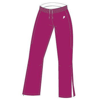 Prince Womens Warm Up Pants (Berry) - RacquetGuys