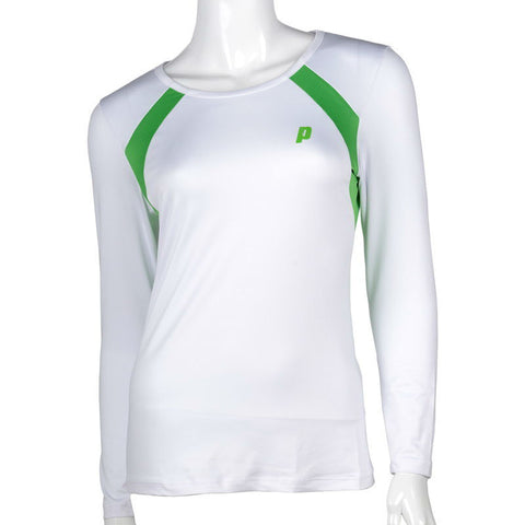Prince Womens Long Sleeve Top (White) - RacquetGuys