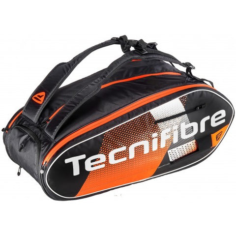 Tecnifibre Air Endurance 12 Pack Racquet Bag (Black/Orange) - RacquetGuys