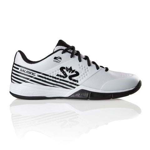 Salming Viper 5 Men's Indoor Court Shoe (White/Black) - RacquetGuys.ca