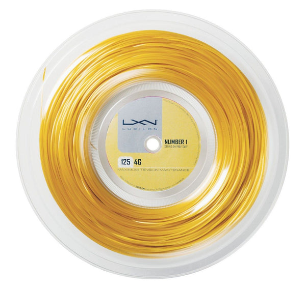 Luxilon 4G 16L Soft Tennis String Reel (Gold) - RacquetGuys