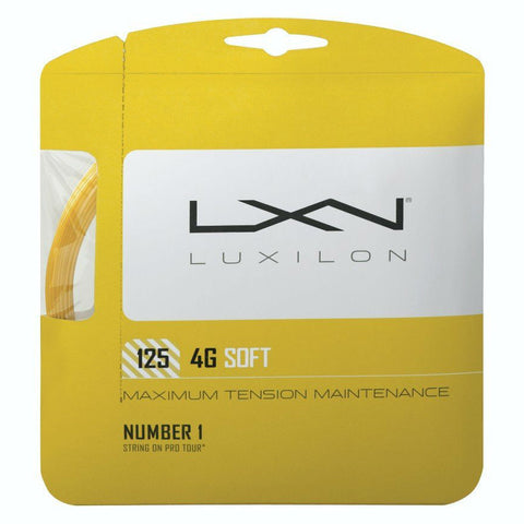 Luxilon 4G Soft 16L Tennis String (Gold) - RacquetGuys