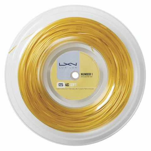 Luxilon 4G 16L Tennis String Reel (Gold) - RacquetGuys