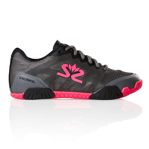 Salming Hawk Women's Indoor Court Shoe (Gun Metal/Pink) - RacquetGuys.ca