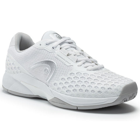 HEAD Revolt Pro 3.0 Womens Tennis Shoe (White/Grey) - RacquetGuys