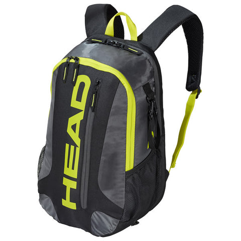 Head Elite Pickleball Backpack Paddle Bag (Black/Yellow) - RacquetGuys.ca
