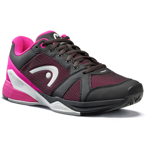 Head Revolt Evo Women's Tennis Shoe (Black/Pink) - RacquetGuys