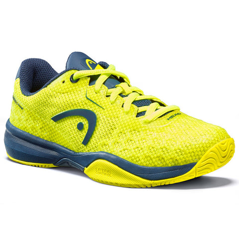 Head Revolt Pro 3.0 Junior Tennis Shoe (Neon Yellow/Dark Blue) - RacquetGuys.ca